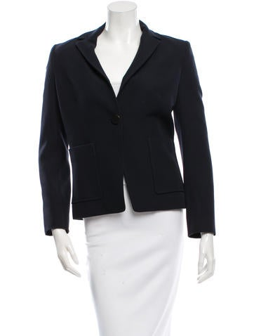 Balenciaga Wool Fitted Blazer None