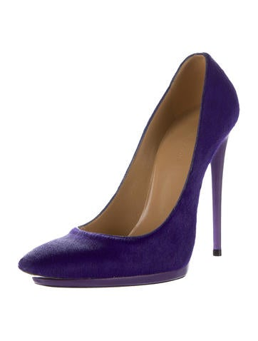 Ponyhair Pointed-Toe Pumps