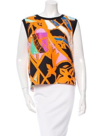 Balenciaga Printed Sleeveless Top None