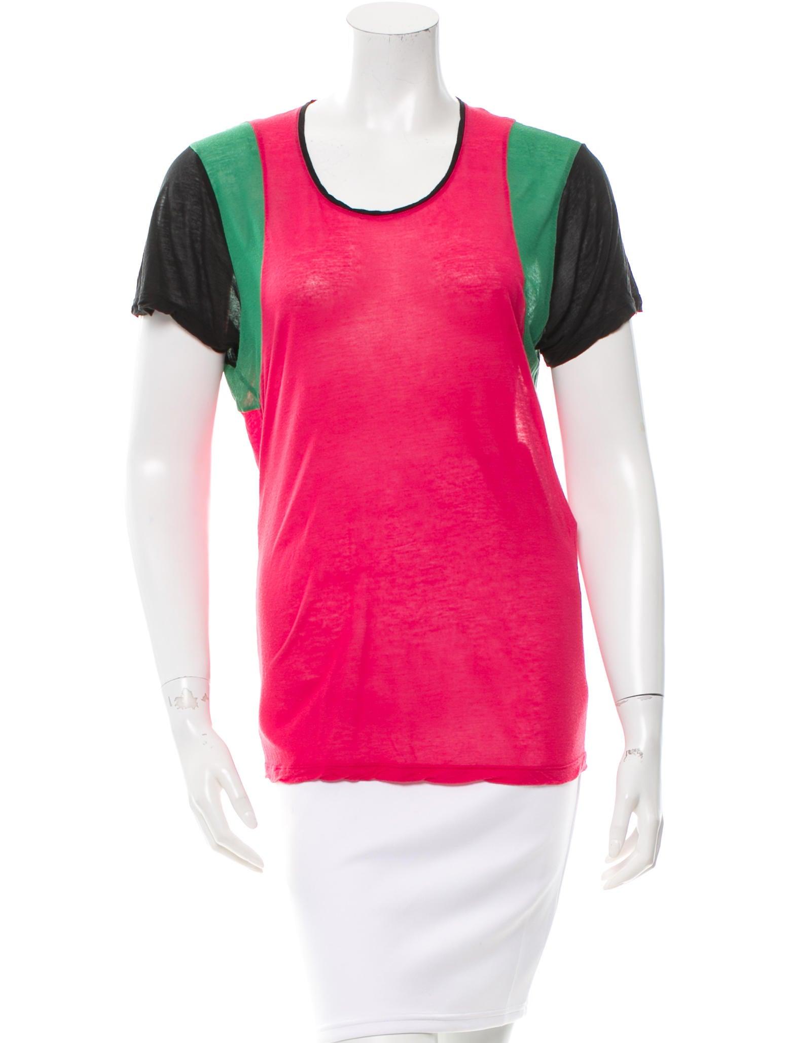 Balenciaga Tri Color Crew Neck T Shirt Clothing