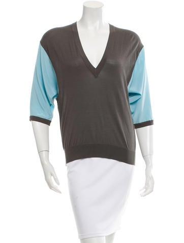 Balenciaga Silk Colorblock Top None