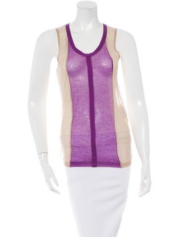 Balenciaga Sleeveless Colorblock Top None