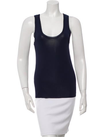 Balenciaga Sleeveless Knit Top None