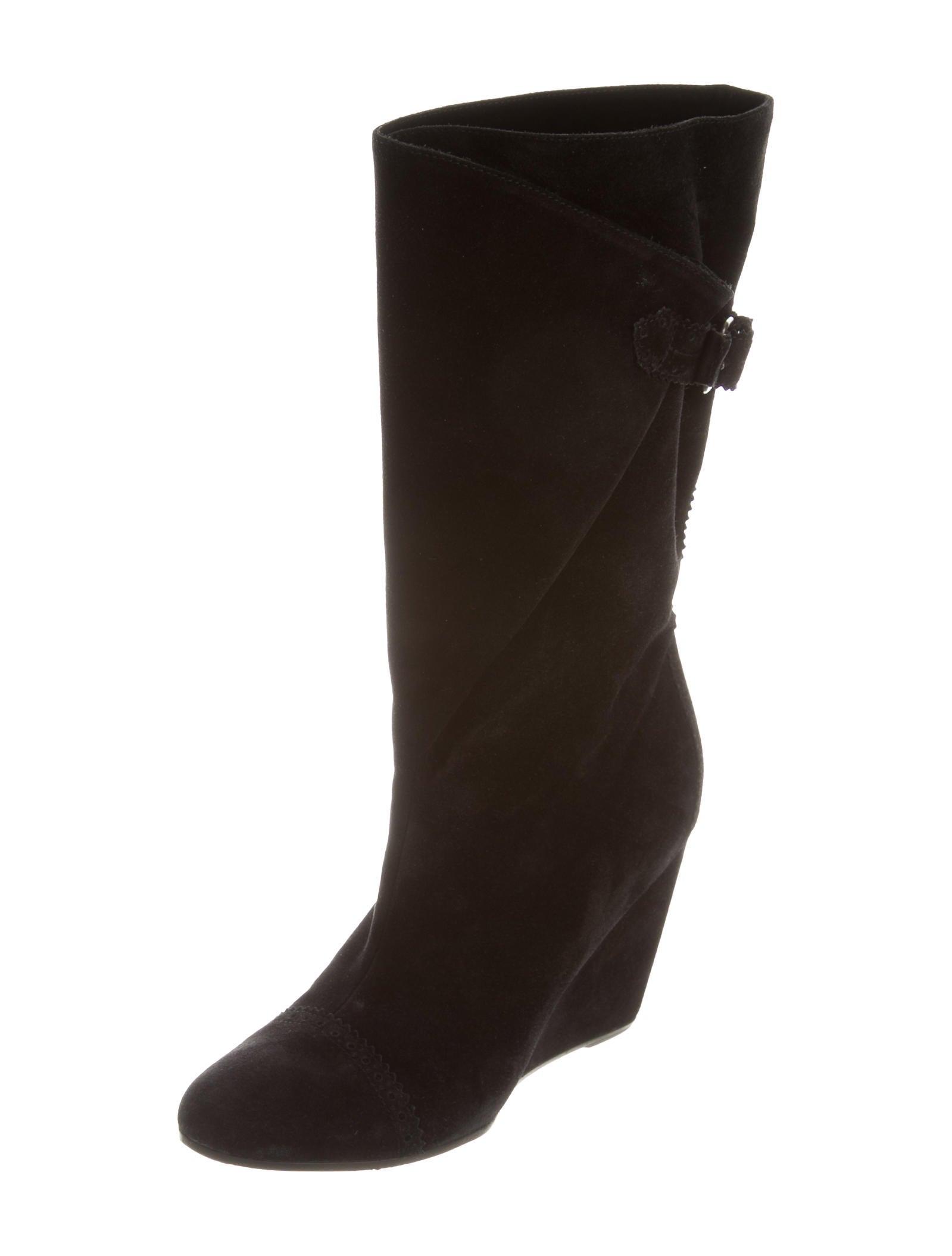 balenciaga suede mid calf boots shoes bal40141 the
