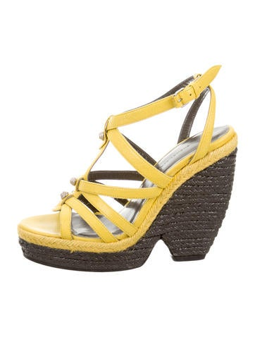 Balenciaga Arena Platform Wedge Sandals