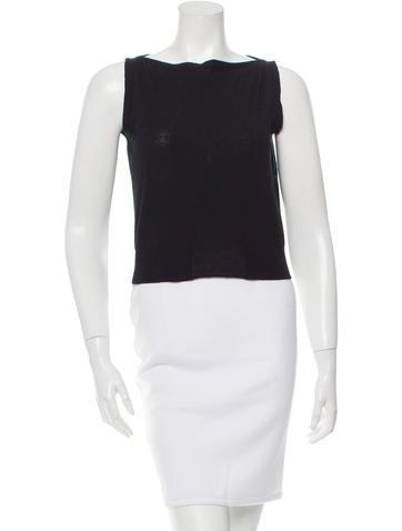 Balenciaga Sleeveless Wool Top None