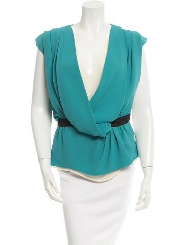 Balenciaga Pleated Silk Top None