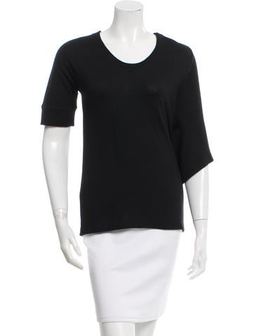 Balenciaga Wool Draped Top None