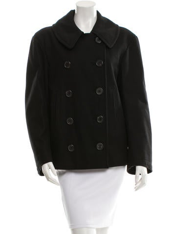 Balenciaga Double-Breasted Wool Coat None