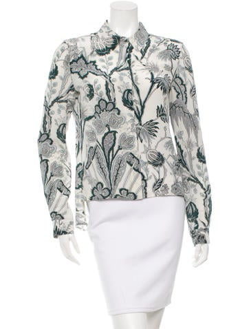 Balenciaga Printed Silk Top None