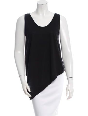 Balenciaga Sleeveless Asymmetrical Top None