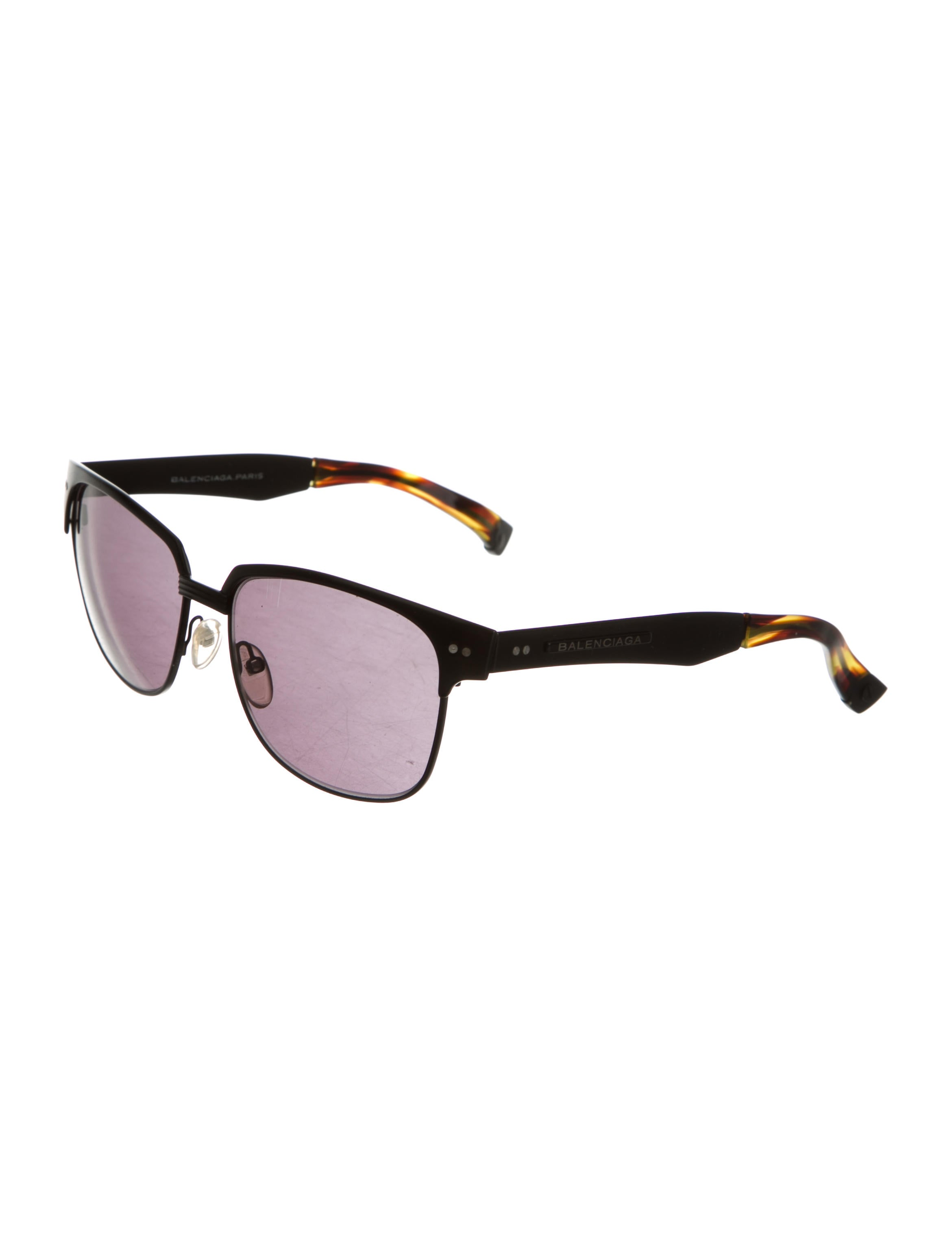 balenciaga resin tinted lens sunglasses accessories