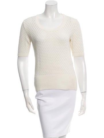 Balenciaga Open Knit Short Sleeve Sweater None