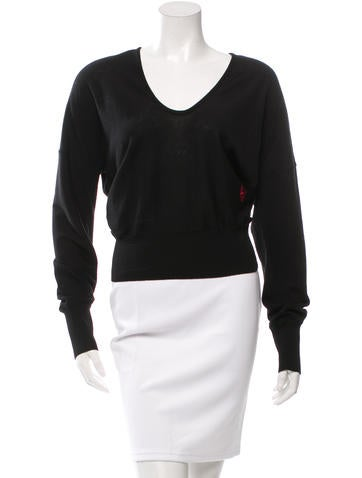 Balenciaga Scoop Neck Wool Sweater None