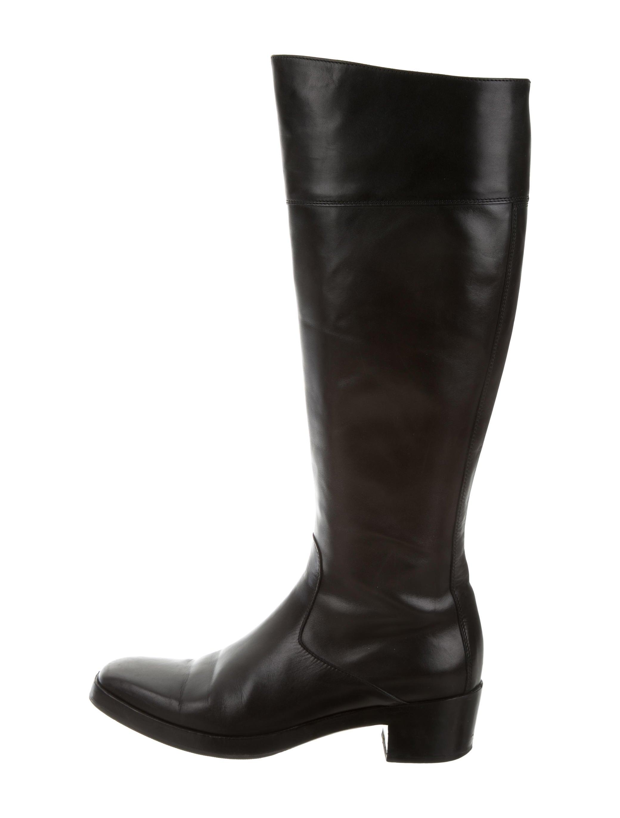 balenciaga leather square toe boots shoes bal41409