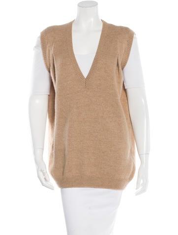 Balenciaga Camel & Wool Blend Sweater Vest None