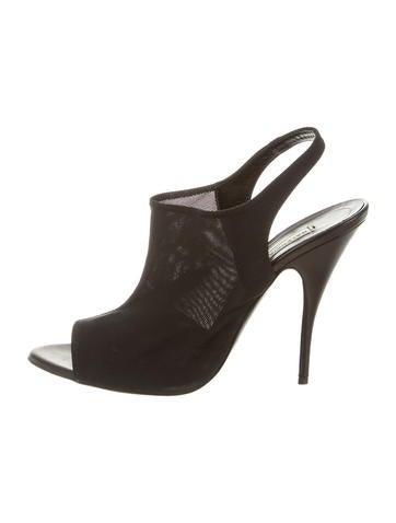 Balenciaga Mesh Slingback Sandals