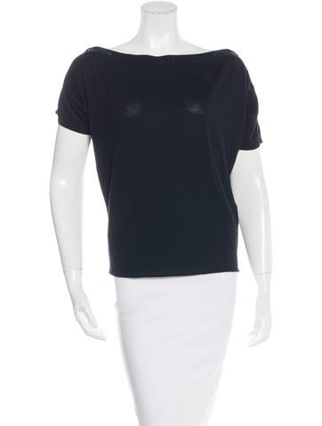 Balenciaga Button-Accented Knit Top None