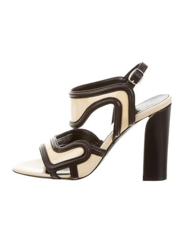 Balenciaga Patent Leather Slingback Sandals None