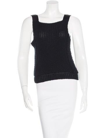 Balenciaga Mixed Knit Top None