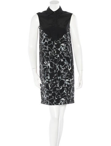 Balenciaga Sleeveless Abstract-Print Dress