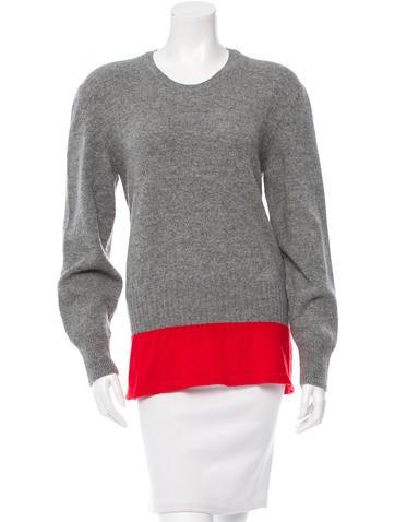 Balenciaga Wool Colorblock Sweater None