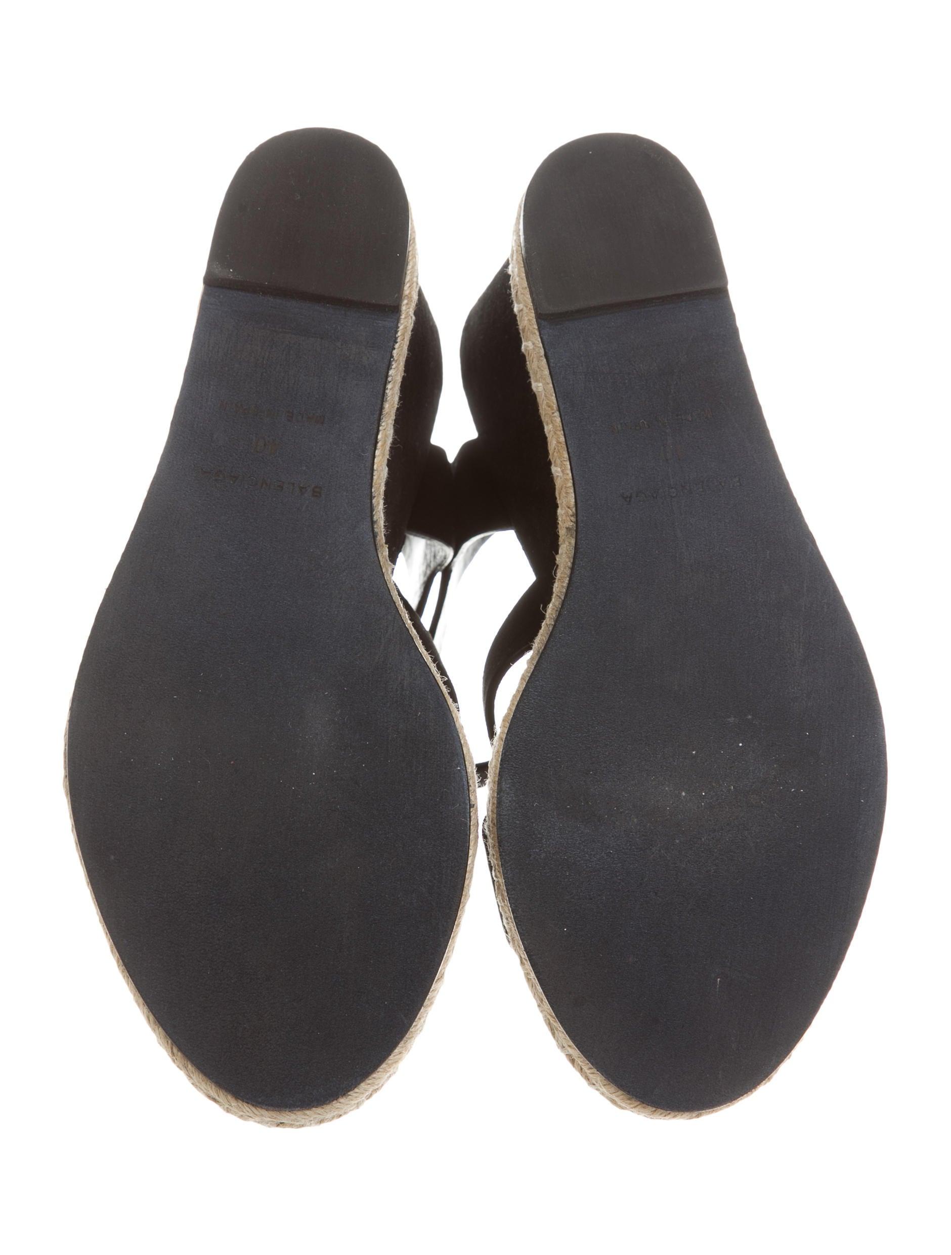 balenciaga suede wedge sandals shoes bal42333 the