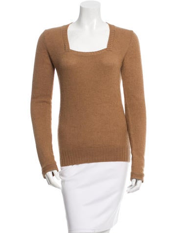 Balenciaga Cashmere Rib Knit Sweater None