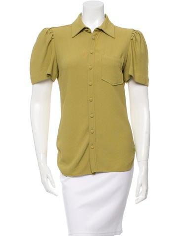 Balenciaga Short Sleeve Button-Up Top None