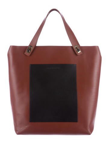 Colorblock Leather Tote