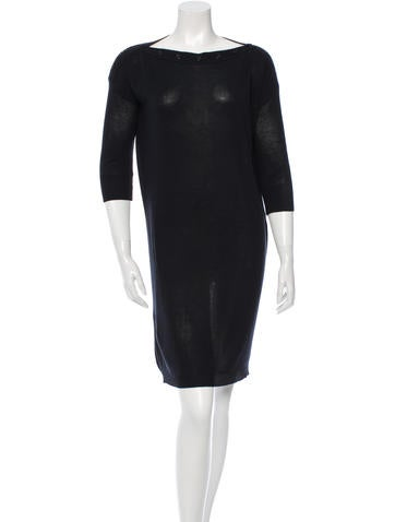 Balenciaga Bateau Knit Sweater Dress None