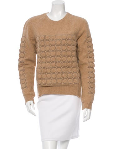 Balenciaga Lamb Wool Quilted Sweater None
