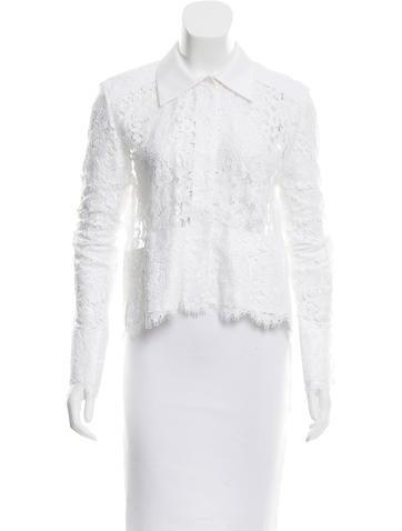 Balenciaga Lace Button-Up Top None