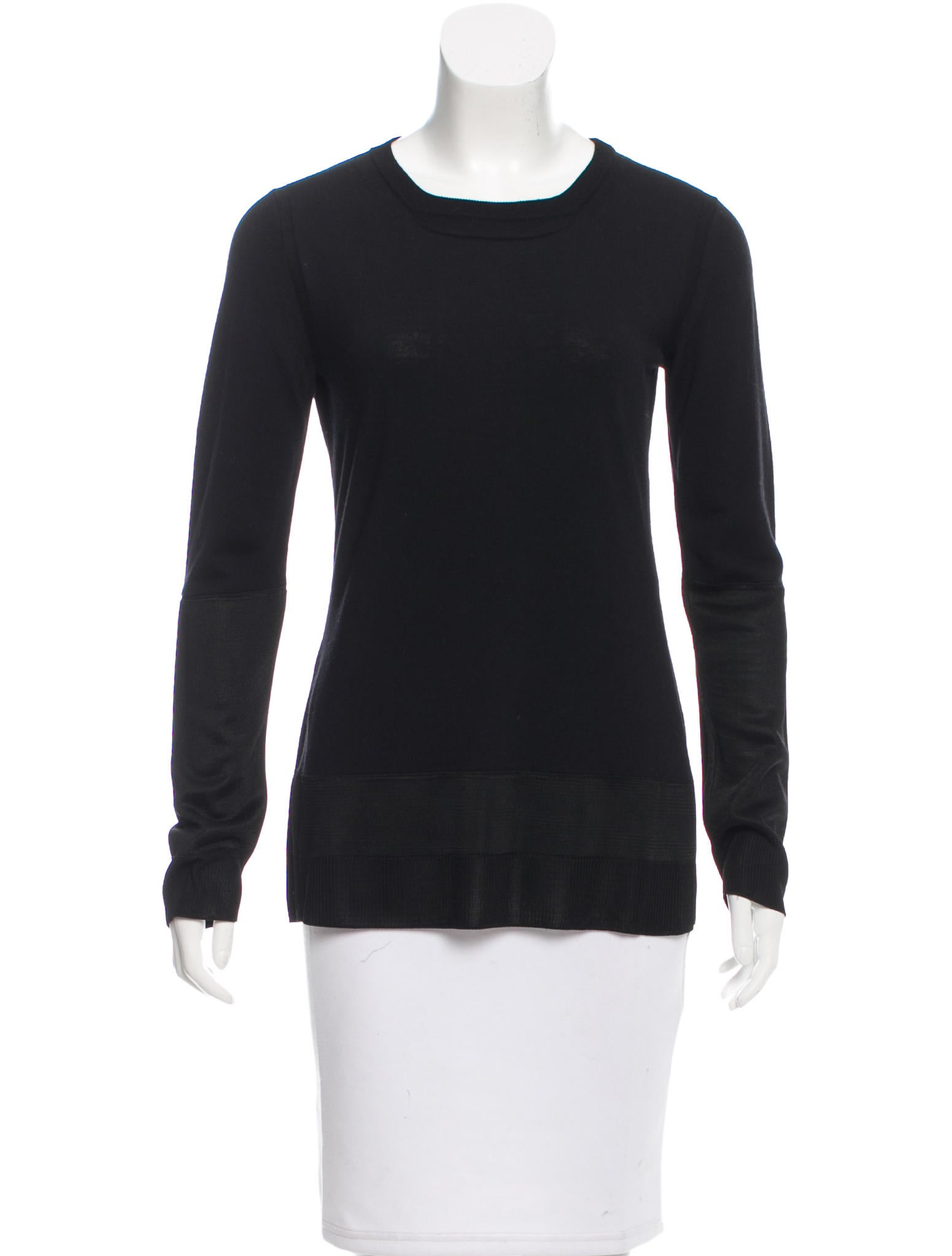 Balenciaga wool blend knit top clothing bal42990 the for Best wool shirt jackets