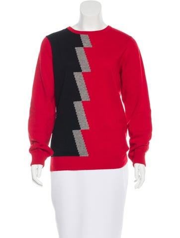 Balenciaga Wool & Cashmere-Blend Intarsia Sweater None