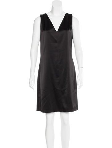 Balenciaga Satin Shift Dress
