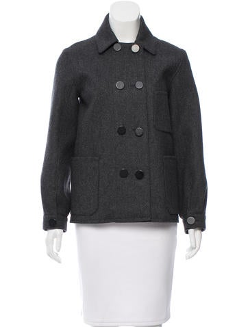 Balenciaga Wool Double-Breasted Coat None