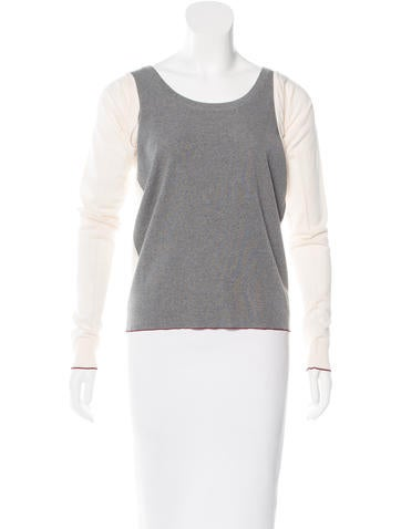 Balenciaga Virgin Wool Colorblock Top w/ Tags None