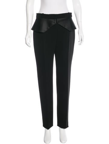 Balenciaga High-Waist Peplum Pants w/ Tags None