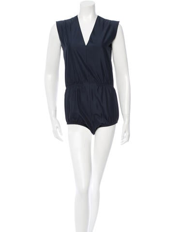 Balenciaga Silk Sleeveless Bodysuit None