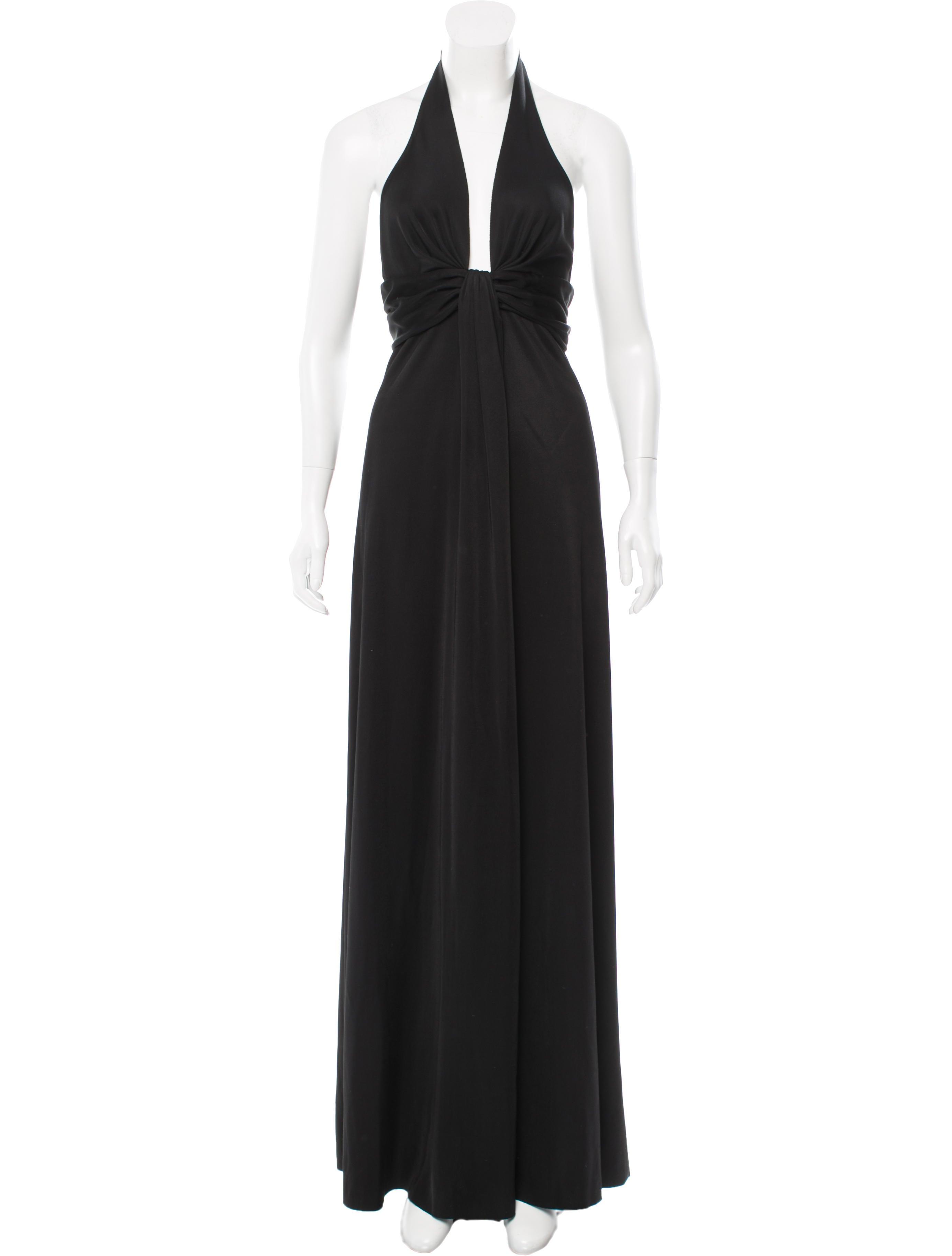 Balenciaga Black Halter Gown - Clothing - BAL43400   The RealReal