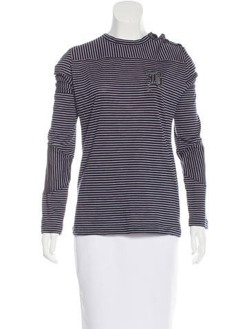 Balenciaga Wool Striped Top None