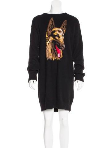 Balenciaga Intarsia Sweater Dress None