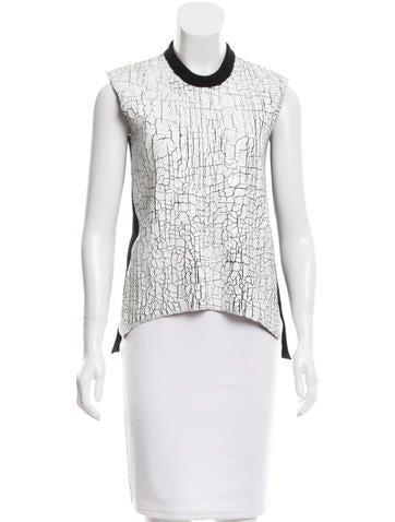 Balenciaga Textured Wool Top None