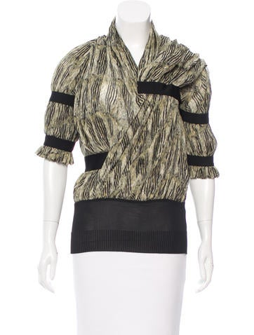Balenciaga Silk Printed Top None