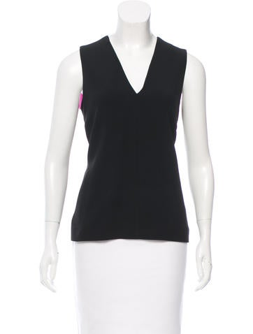 Balenciaga Contrast-Trimmed Sleeveless Top None