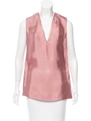 Balenciaga Tie-Accented Sleeveless Top None