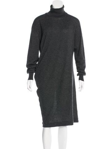 Balenciaga Wool Turtleneck Dress None