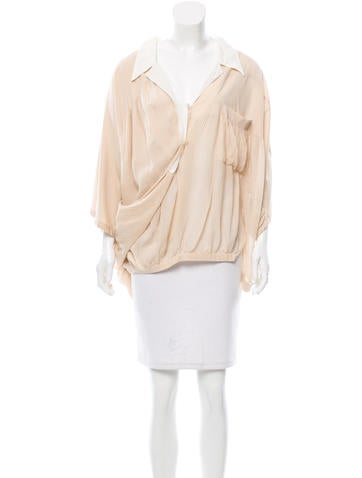 Balenciaga Silk Draped Top None