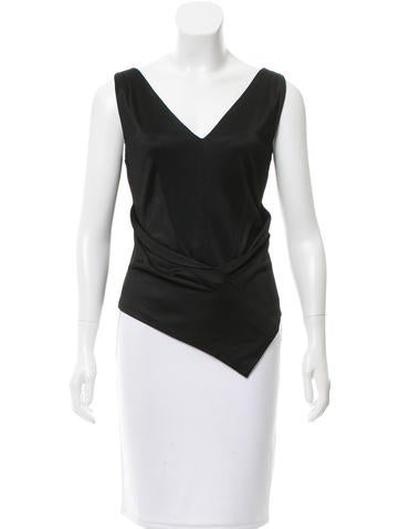 Balenciaga Sleeveless V-Neck Top None